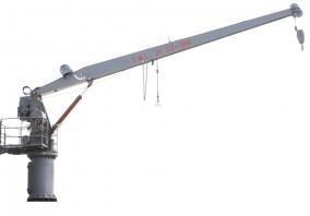 液压回转起重机兼艇/筏降放装置